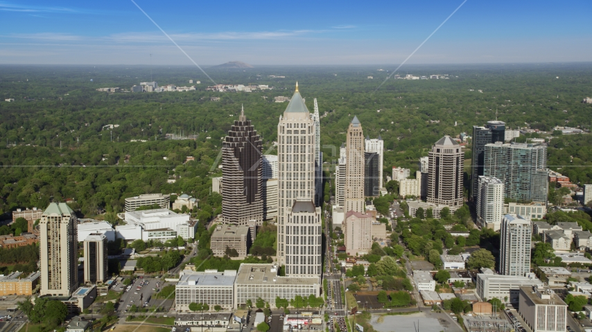 Midtown Atlanta skyscrapers and One Atlantic Center, Georgia Aerial Stock Photos | AX38_062.0000018F