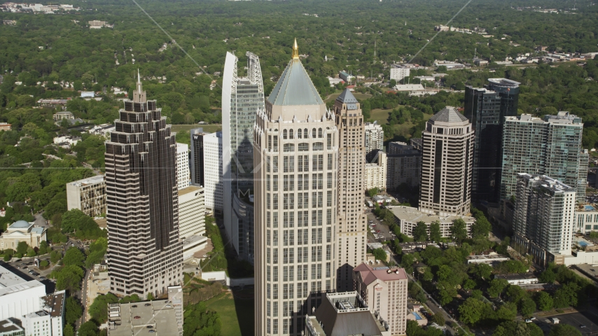 Midtown skyscrapers and One Atlantic Center, Atlanta, Georgia Aerial Stock Photo AX38_062.0000306F | Axiom Images