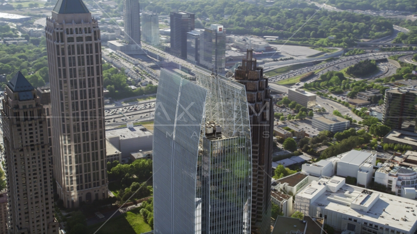 1180 Peachtree skyscraper, Midtown Atlanta, Georgia Aerial Stock Photo AX38_064.0000285F | Axiom Images