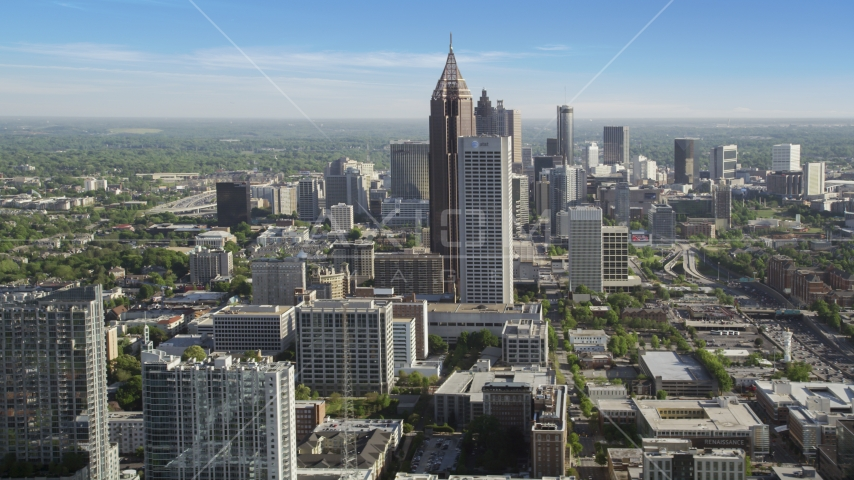 Skyscrapers in Midtown Atlanta, Georgia Aerial Stock Photo AX38_065.0000217F | Axiom Images