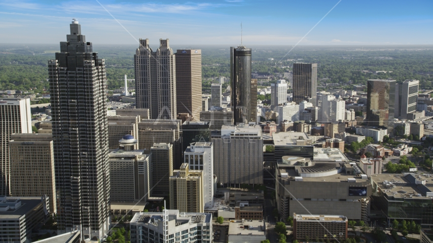 Skyscrapers and office buildings, Downtown Atlanta, Georgia Aerial Stock Photos | AX38_071.0000292F