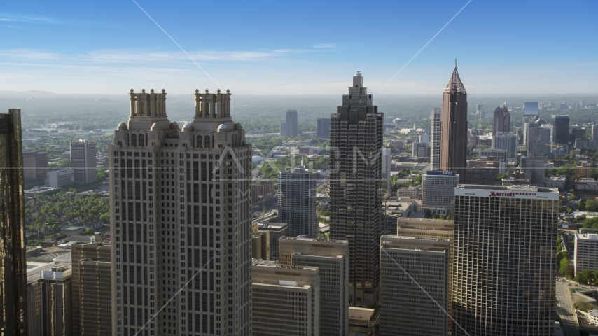 Skyscrapers, Downtown Atlanta, Georgia Aerial Stock Photos | AX38_074.0000233F
