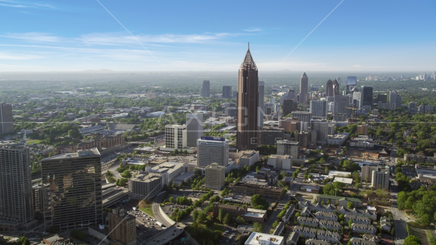 Bank of America Plaza, Midtown Atlanta, Georgia Aerial Stock Photos | AX38_075.0000148F