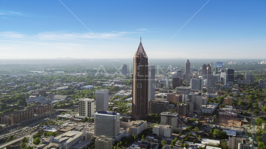 Bank of America Plaza, Midtown Atlanta, Georgia Aerial Stock Photos | AX38_075.0000301F
