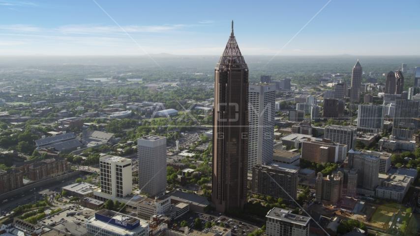 Bank of America Plaza, hazy, Midtown Atlanta, Georgia Aerial Stock Photo AX38_076.0000092F | Axiom Images