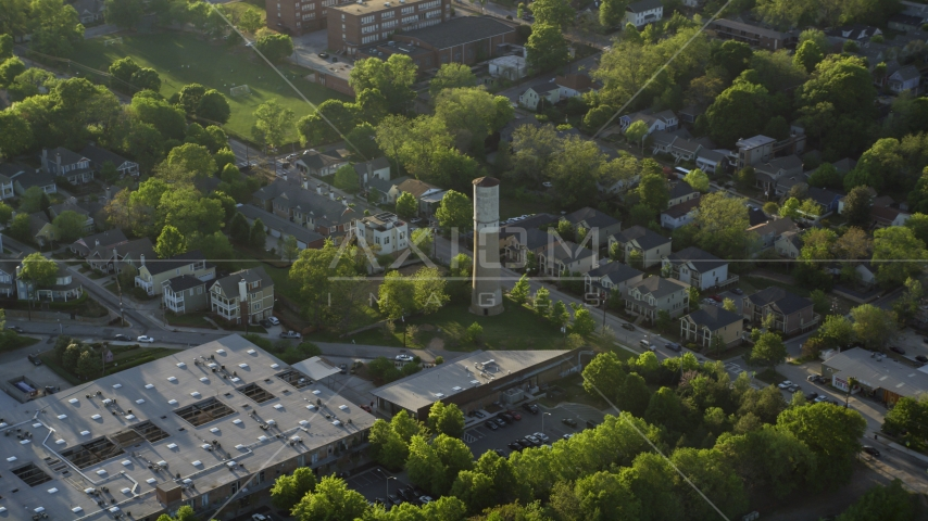 Old Water Tower Park and residential neighborhoods, East Atlanta Aerial Stock Photos | AX39_015.0000080F