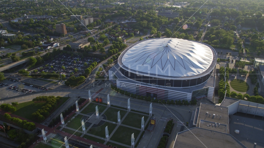 The Georgia Dome, Atlanta, Georgia Aerial Stock Photos | AX39_019.0000189F