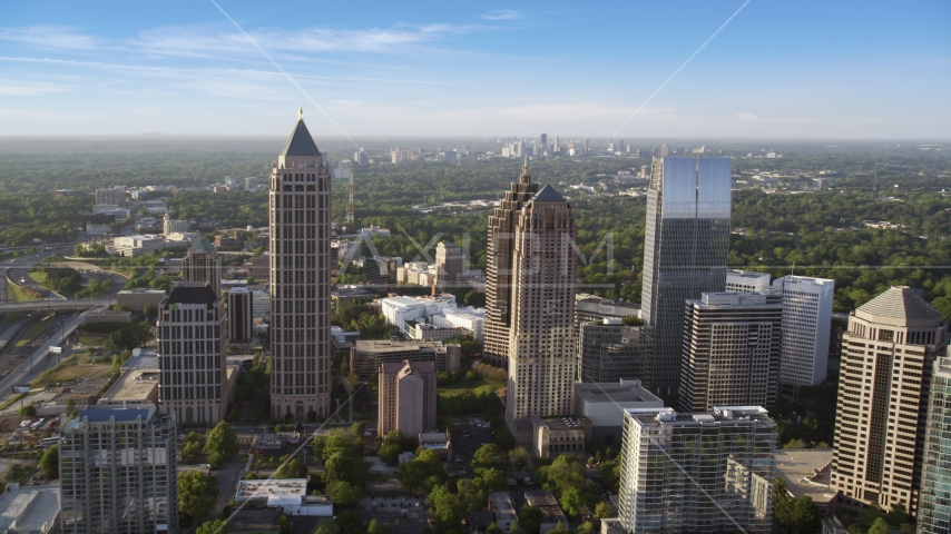 One Atlantic Center, surrounding skyscrapers, Midtown Atlanta, Georgia Aerial Stock Photos | AX39_022.0000236F