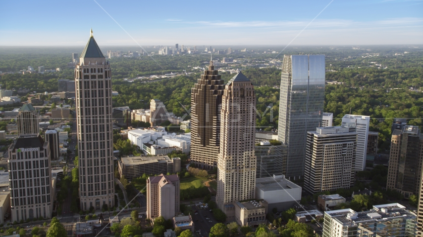 Midtown Atlanta skyscrapers near Promenade II, Georgia Aerial Stock Photos | AX39_023.0000078F