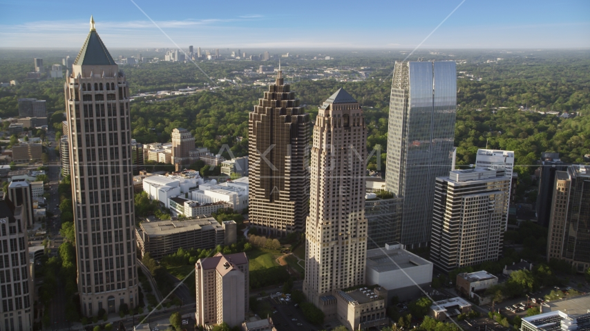 Midtown skyscrapers near Promenade II, Atlanta, Georgia Aerial Stock Photos | AX39_023.0000132F