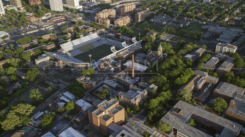 Bobby Dodd Stadium at the Georgia Institute of Technology, Atlanta Aerial Stock Photos | AX39_029.0000300F