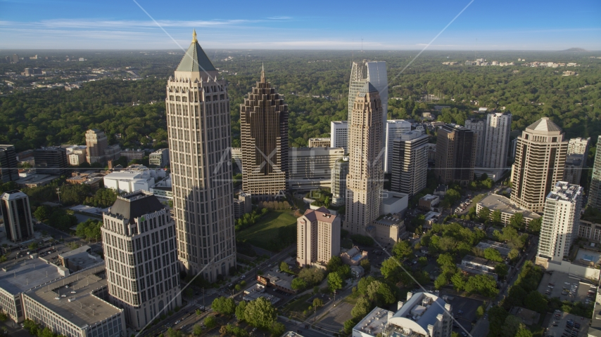 The tall towers of Midtown Atlanta, Georgia Aerial Stock Photos | AX39_031.0000216F