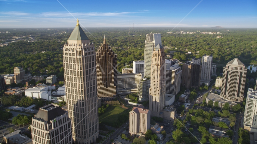 One Atlantic Center and Midtown Atlanta skyscrapers, Georgia Aerial Stock Photos | AX39_031.0000277F