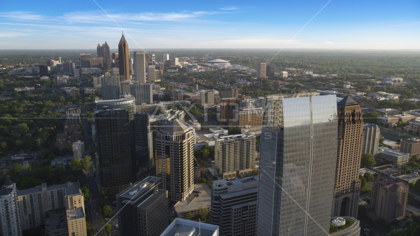 1180 Peachtree and Midtown Atlanta skyscrapers, Georgia Aerial Stock Photo AX39_033.0000034F | Axiom Images