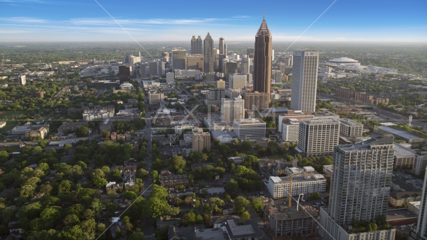The Bank of America Plaza skyscraper near Downtown Atlanta, Georgia Aerial Stock Photos | AX39_035.0000027F