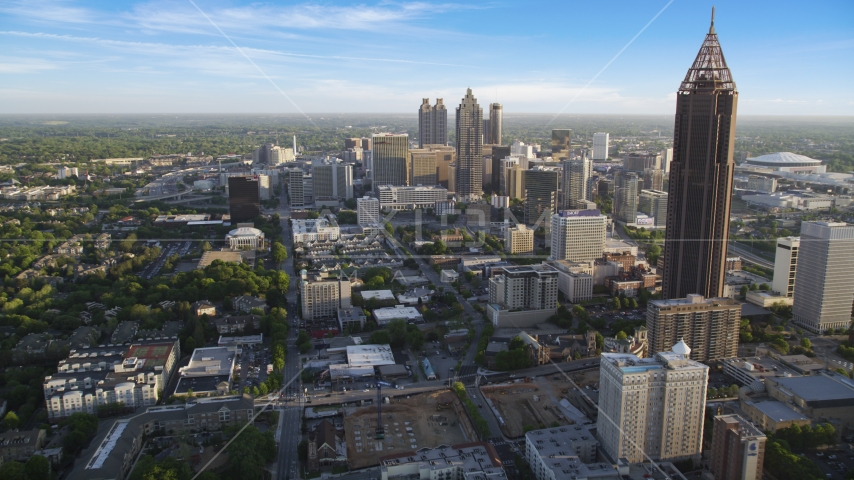 Bank of America Plaza in Midtown, Downtown Atlanta Aerial Stock Photos | AX39_036.0000012F