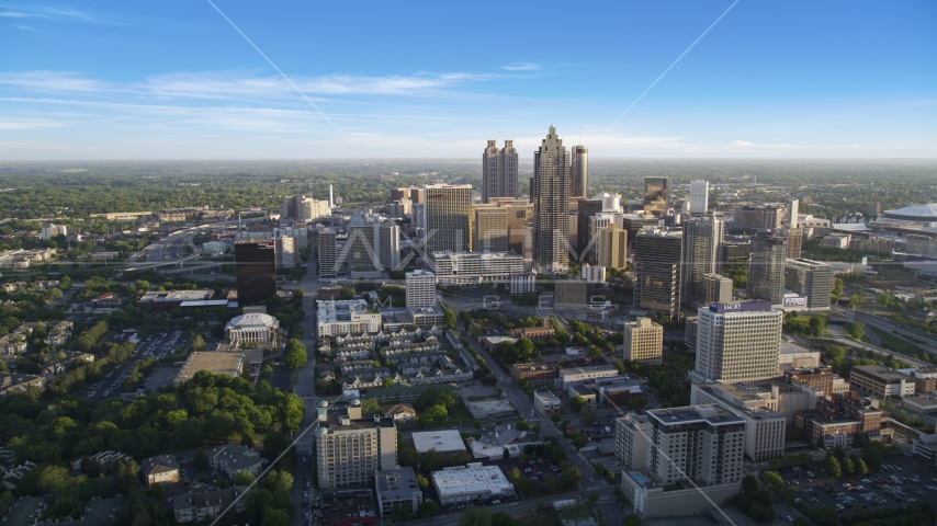 View of Downtown Atlanta From Midtown, Georgia Aerial Stock Photos | AX39_036.0000168F