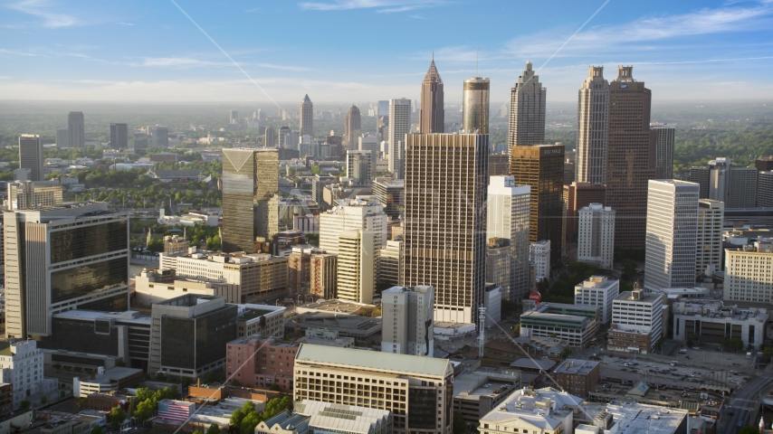 Skyscrapers and high-rises, Downtown Atlanta, Georgia Aerial Stock Photo AX39_045.0000026F | Axiom Images