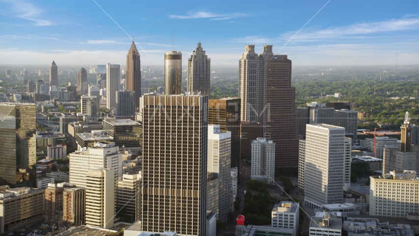 Skyscrapers and high-rises, Downtown Atlanta, Georgia Aerial Stock Photos | AX39_045.0000264F
