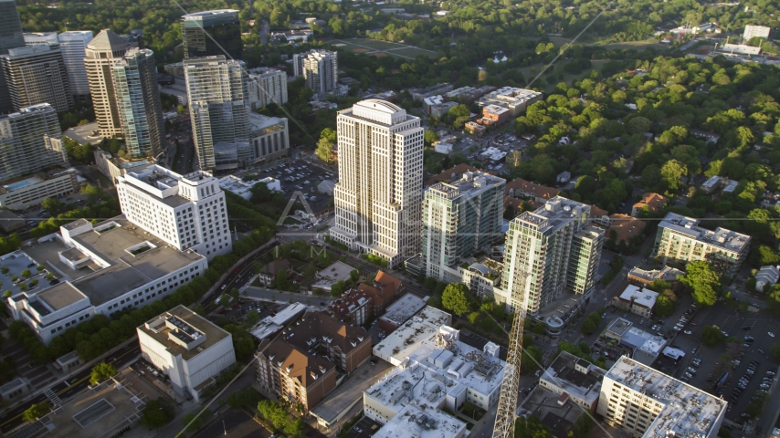 999 Peachtree Street and condominium complex, Midtown Atlanta, Georgia Aerial Stock Photos | AX39_052.0000044F