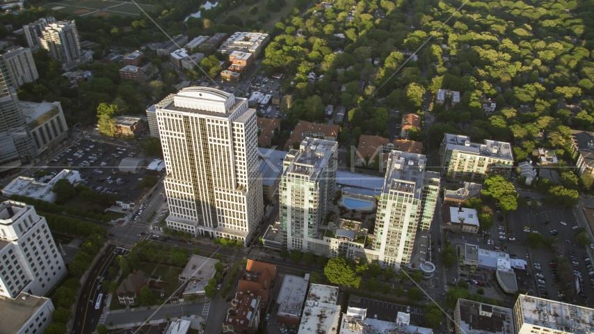 999 Peachtree Street and condominium complex, Midtown Atlanta, Georgia Aerial Stock Photo AX39_052.0000153F | Axiom Images