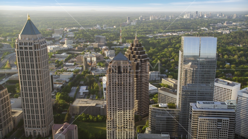 Promenade II, Midtown Atlanta, Georgia  Aerial Stock Photos | AX39_053.0000042F