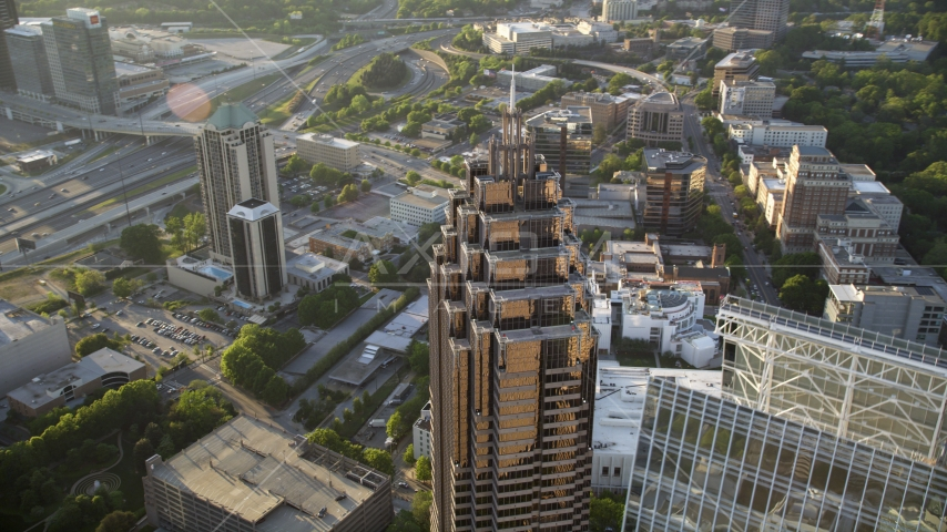 Top of Promenade II, Midtown Atlanta, Georgia Aerial Stock Photos | AX39_054.0000062F