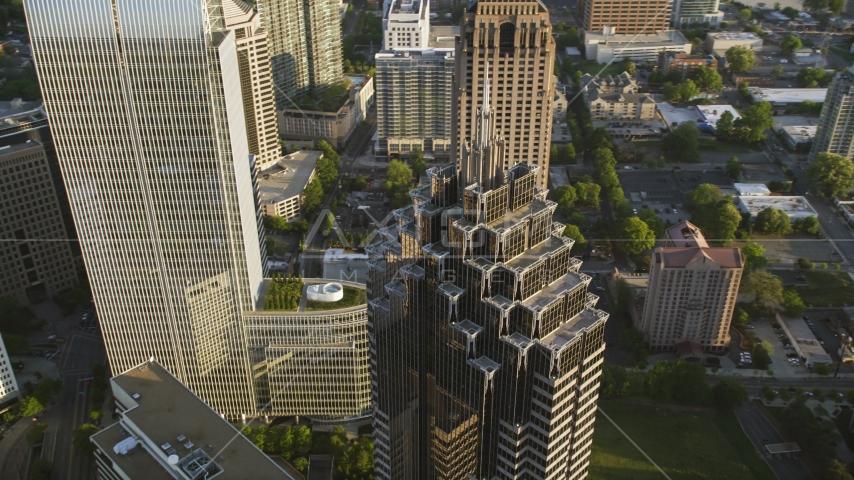 Top of Promenade II, Midtown Atlanta, Georgia Aerial Stock Photo AX39_055.0000204F | Axiom Images