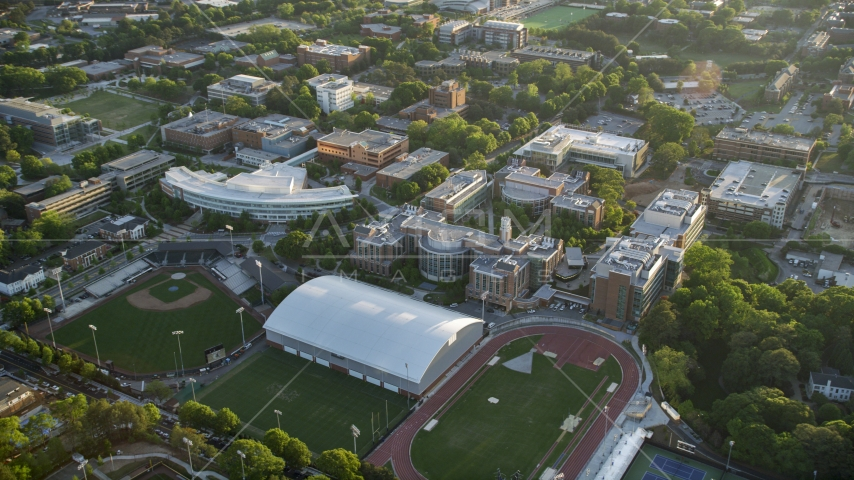 Sports field and Department of Chemical and Biomolecular Engineering, Georgia Institute of Technology Aerial Stock Photos | AX39_062.0000306F