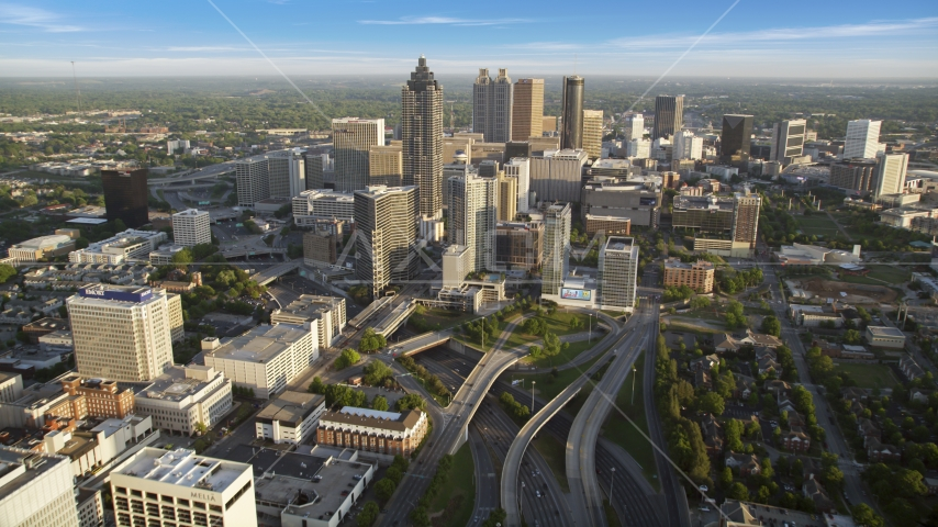 SunTrust Plaza and Downtown Atlanta, Georgia Aerial Stock Photo AX39_064.0000067F | Axiom Images