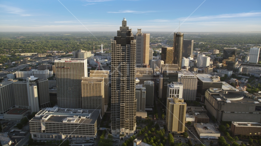 SunTrust Plaza and Downtown Atlanta skyscrapers, Georgia Aerial Stock Photos | AX39_065.0000015F