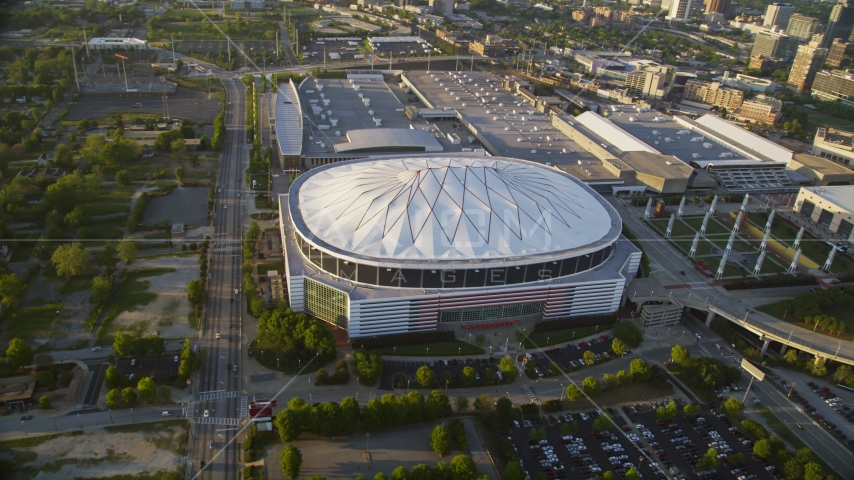Georgia Dome, Atlanta, Georgia Aerial Stock Photos | AX39_069.0000223F