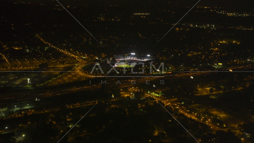 Turner Field baseball stadium in Atlanta, Georgia, night Aerial Stock Photos | AX41_003.0000146F