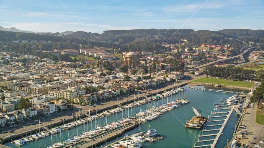 Yacht Harbor and Palace of Fine Arts, San Francisco, California Aerial Stock Photos | DCSF05_030.0000415