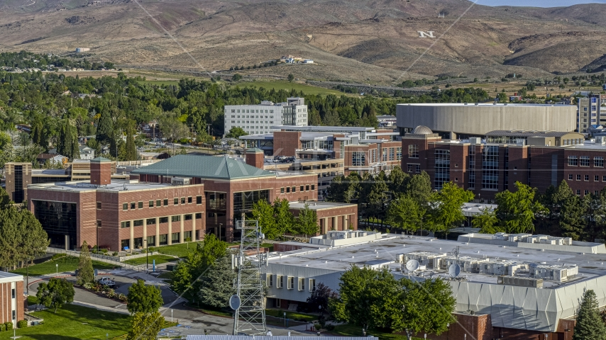The campus of the University of Nevada in Reno, Nevada Aerial Stock Photos | DXP001_006_0006