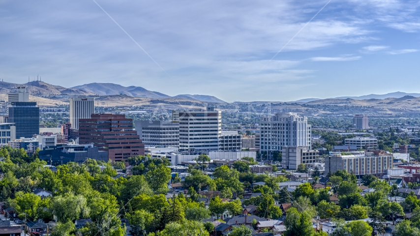 A group of office buildings in Reno, Nevada Aerial Stock Photos | DXP001_006_0012