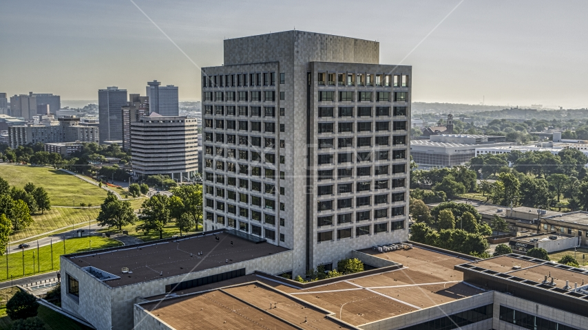 A federal office building in Kansas City, Missouri Aerial Stock Photos | DXP001_043_0002