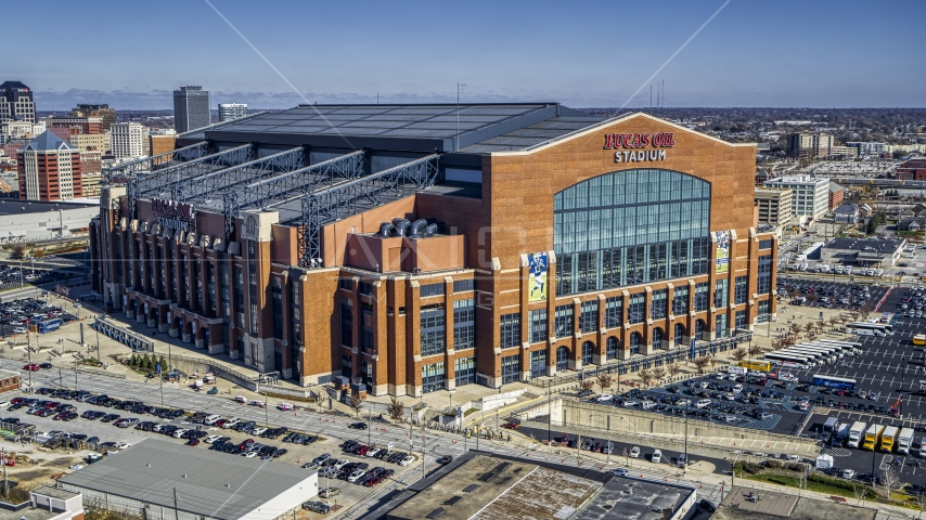 Lucas Oil Stadium in Indianapolis, Indiana Aerial Stock Photos | DXP001_089_0007
