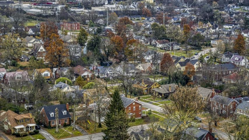 Suburban homes and quiet streets in Lexington, Kentucky Aerial Stock Photos | DXP001_099_0013