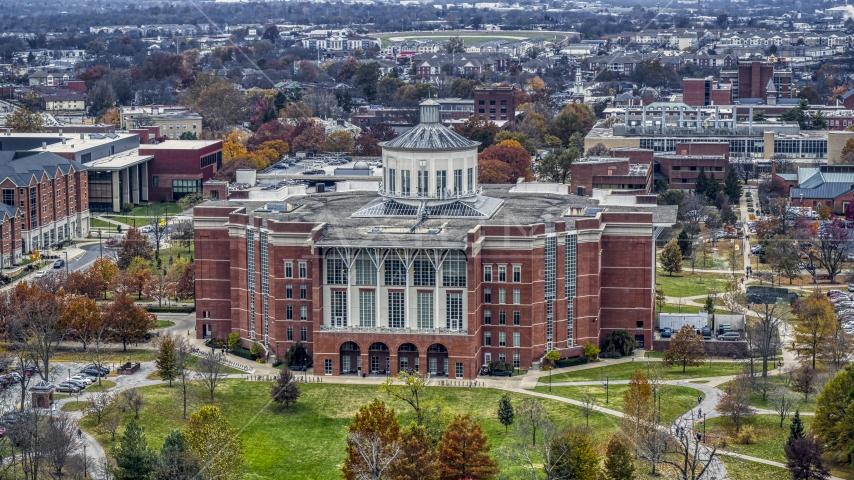 The University of Kentucky library on the campus, Lexington, Kentucky Aerial Stock Photos | DXP001_100_0012