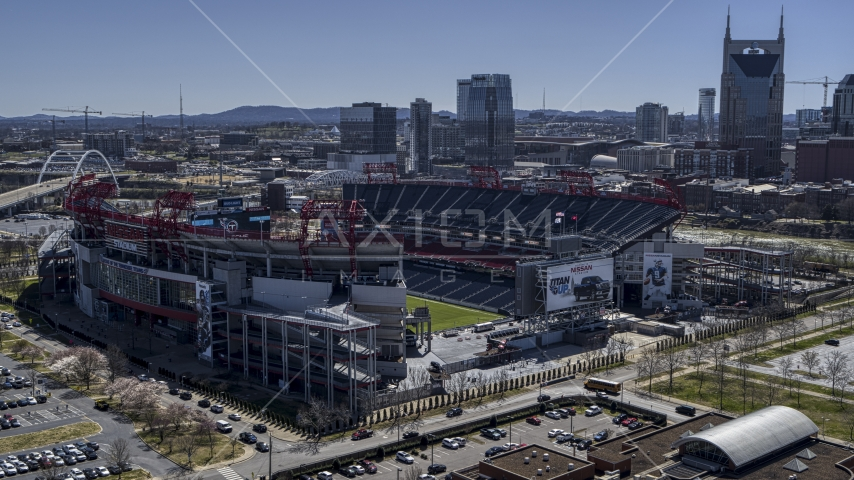 The football stadium in Nashville, Tennessee Aerial Stock Photos | DXP002_112_0005