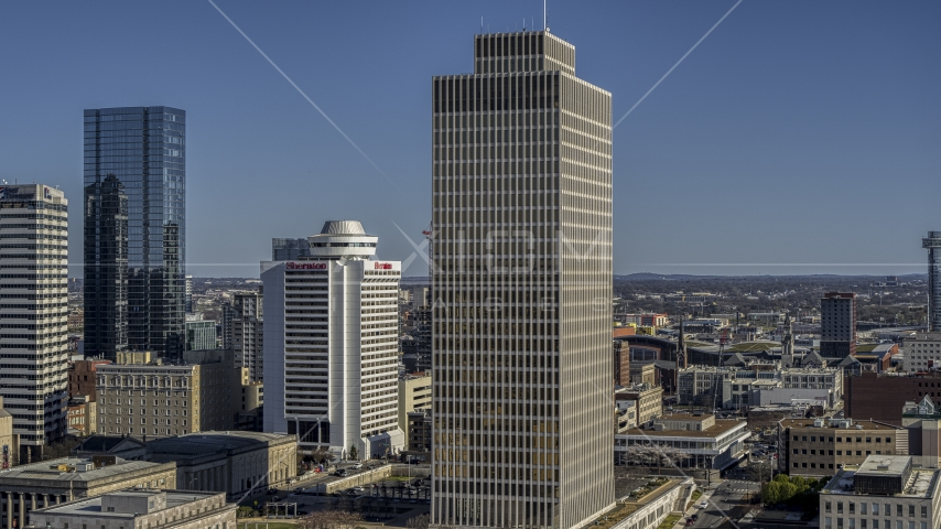A view of Tennessee Tower in Downtown Nashville, Tennessee Aerial Stock Photos | DXP002_113_0011