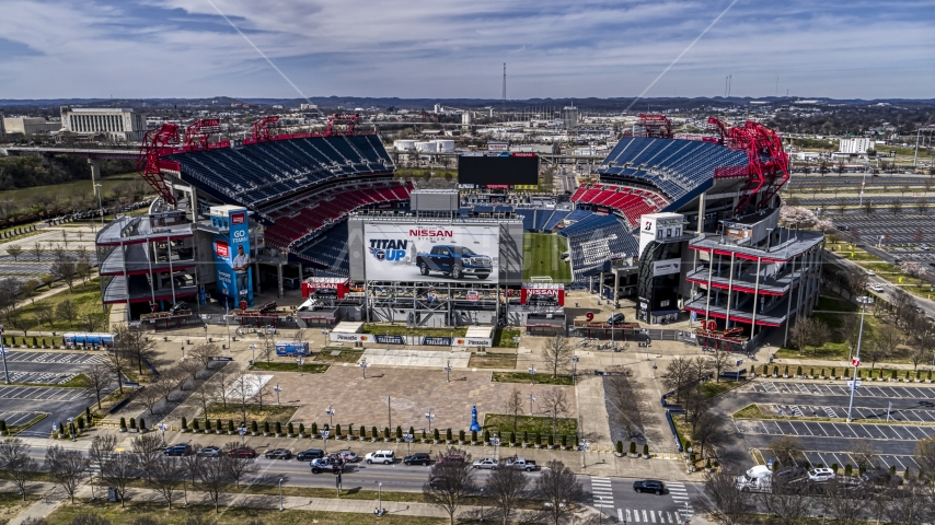 Nissan Stadium in Nashville, Tennessee Aerial Stock Photos | DXP002_117_0001