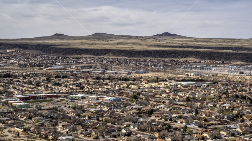 A suburban neighborhood in Albuquerque, New Mexico Aerial Stock Photos | DXP002_126_0002