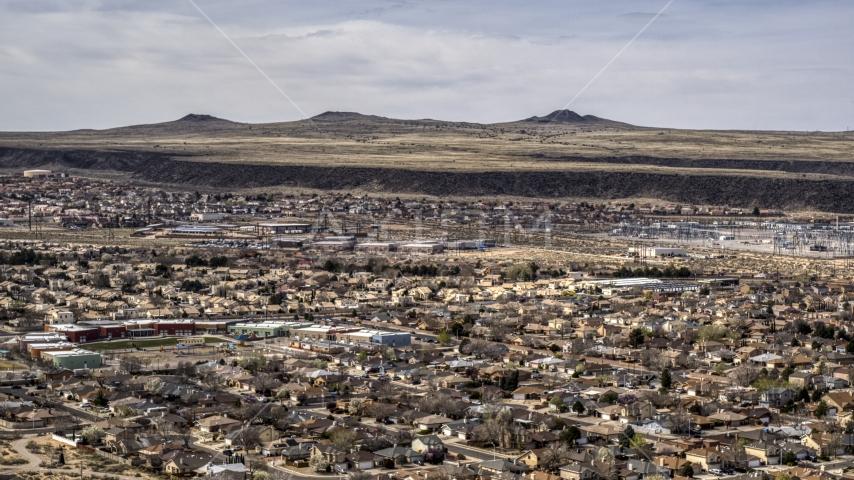 A suburban neighborhood in Albuquerque, New Mexico Aerial Stock Photos | DXP002_126_0002