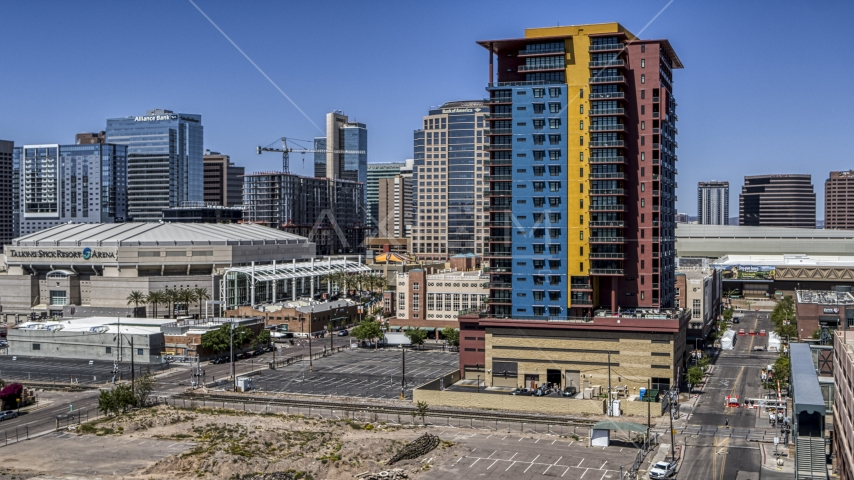 A condo complex in Downtown Phoenix, Arizona Aerial Stock Photos | DXP002_136_0002