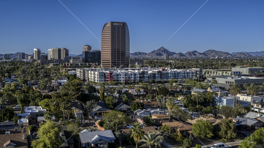 The BMO Tower high-rise office building in Phoenix, Arizona Aerial Stock Photos | DXP002_138_0006