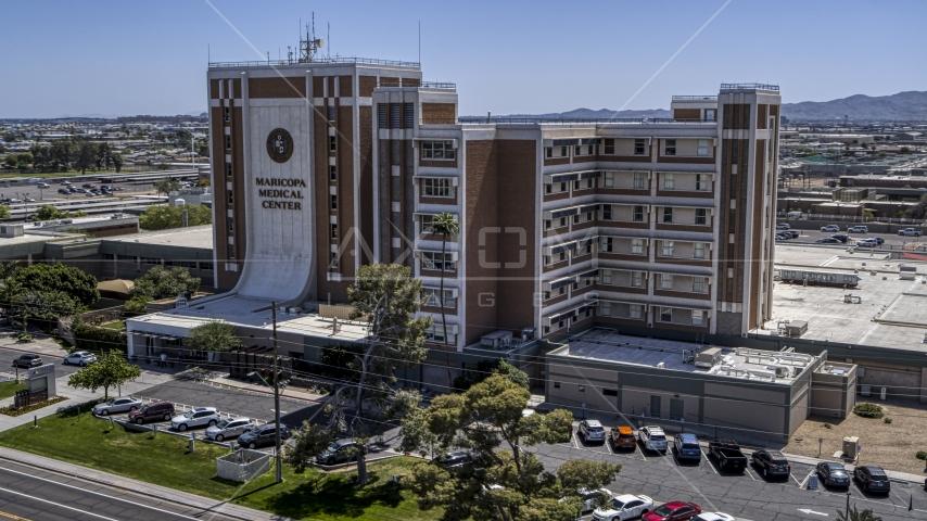 A hospital complex in Phoenix, Arizona Aerial Stock Photos | DXP002_140_0004