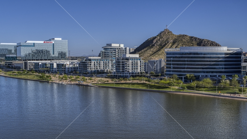A waterfront condominium complex in Tempe, Arizona Aerial Stock Photos | DXP002_142_0003