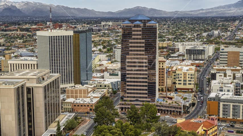 The One South Church office high-rise in Downtown Tucson, Arizona Aerial Stock Photos | DXP002_145_0005